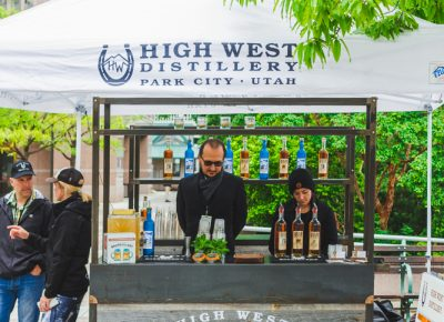 High West brought out their classic horseshoe and country style in addition to sampling their top-shelf whiskeys and vodkas. Photo: Talyn Sherer