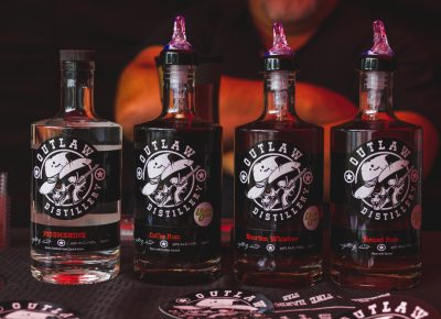 Outlaw Distillery was a welcome surprise with some of their moonshine, which cannot yet be found in the liquor stores. Photo: Talyn Sherer