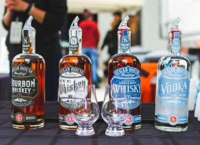 Sporting their new labels, Sugarhouse Distillery samples up their new whiskey collection. Photo: Talyn Sherer