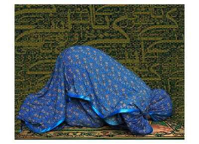 Martha Díaz Adam, Muslim Female Praying (2016).