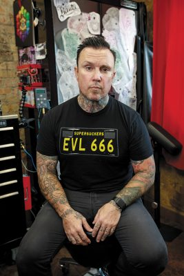Rich D of Big Deluxe Tattoo. Photo: John Barkiple