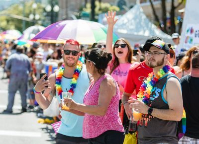 So many friendly faces on the streets for SLC Pride. Photo: Logan Sorenson | Lmsorenson.net
