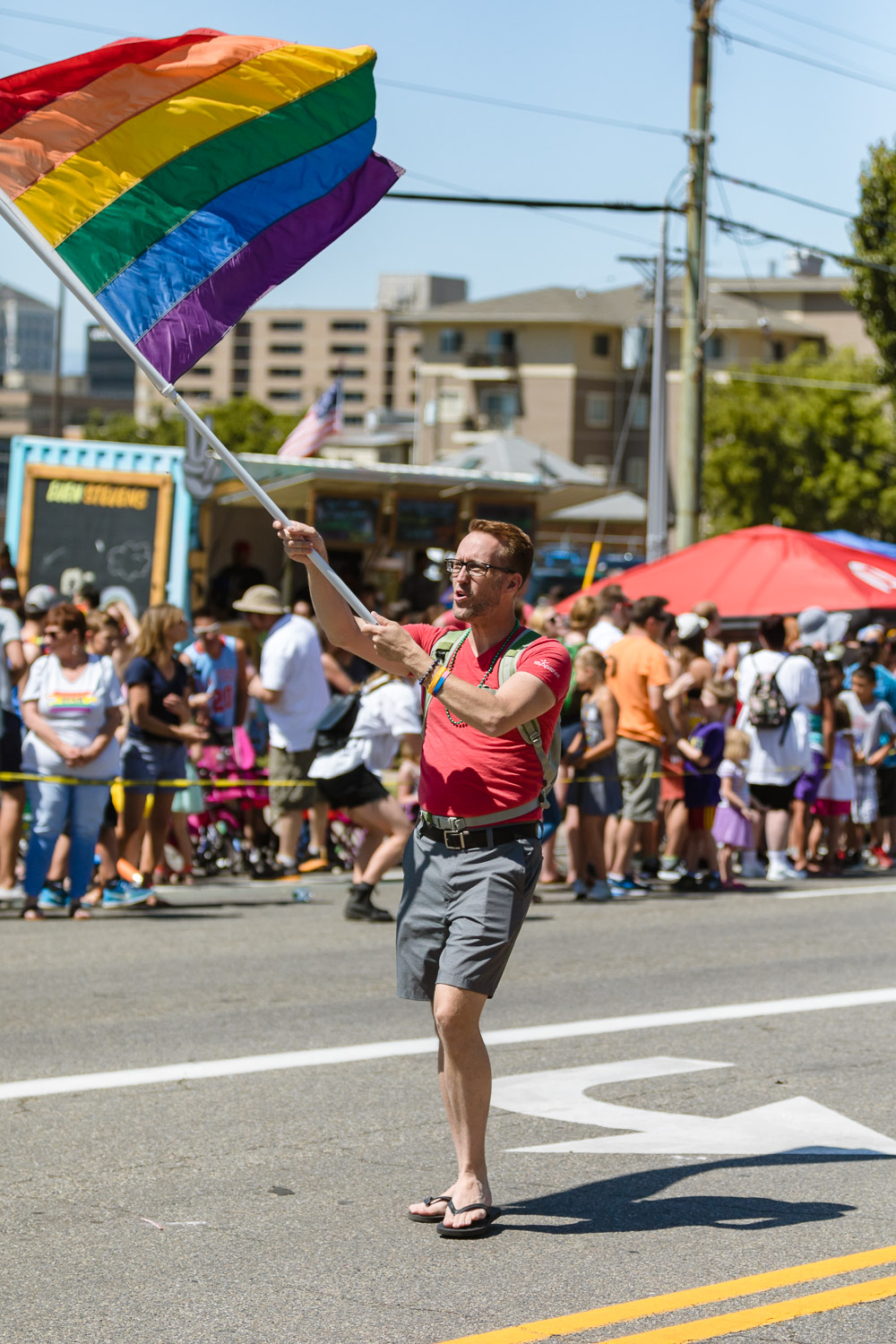 As far as you can see, people celebrating Pride as they make their way from downtown SLC. Photo: Logan Sorenson | Lmsorenson.net