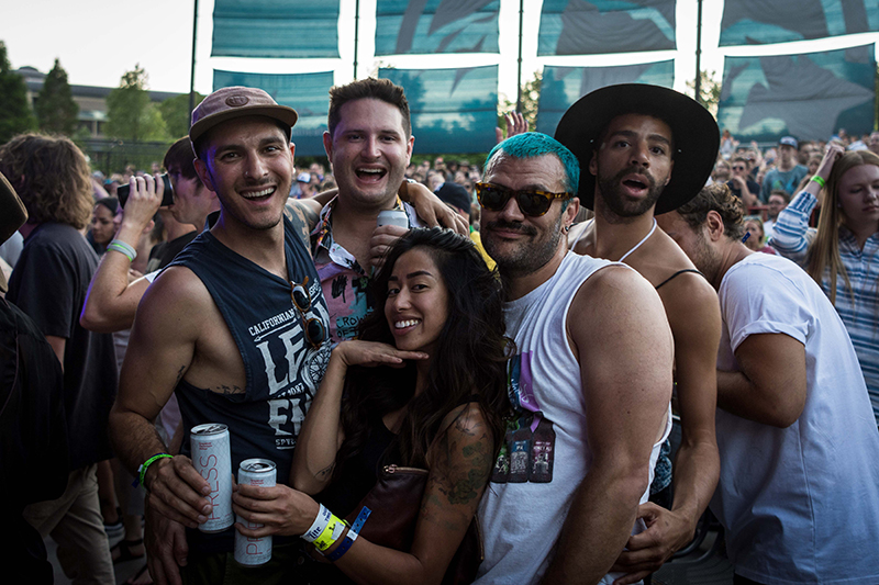 A group of close friends having a blast during Little Dragon.