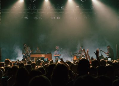 Dr. Dog ending the show with a bang. Photo: Matthew Hunter