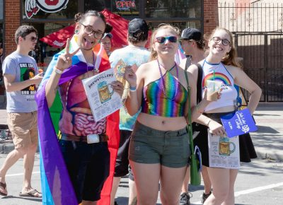 So many groups of friends are on the streets showing their love for SLC Pride. Photo: Logan Sorenson | Lmsorenson.net