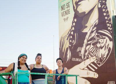 (L–R) Ella Mendoza, Elizabeth Blancas and Jessica Sabogal. Photo: LmSorenson.net