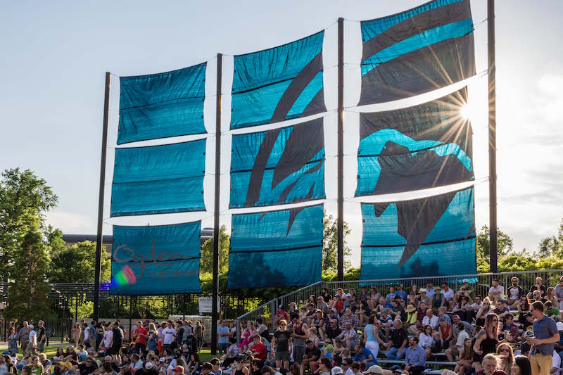 As the sun lowers in the sky, the amphitheater begins to fill. Photo: ColtonMarsalaPhotography.com