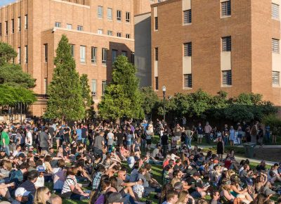 Fans gather at the park in the heart of Ogden to watch The Flaming Lips. Photo: ColtonMarsalaPhotography.com