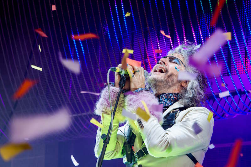 Wayne Coyne of The Flaming Lips takes the stage and confetti flies wild. Photo: ColtonMarsalaPhotography.com