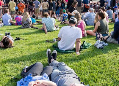 Twilight-goers relax and chill in the summer sun. Photo: ColtonMarsalaPhotography.com