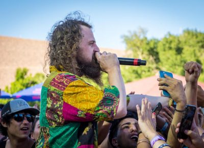 A member of Hippie Sabotage gets into the crowd.