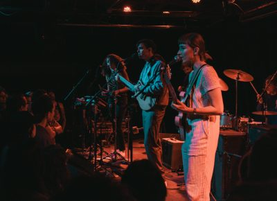 Dirty Projectors playing to a packed house. Photo: Matthew Hunter