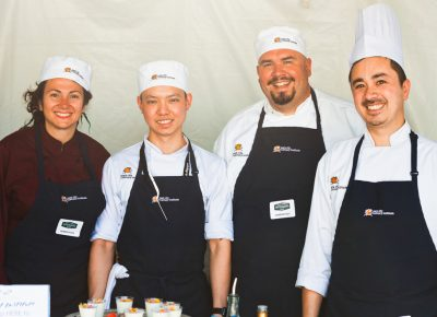 (L–R) Laurie Moldawer Minh Pham, Zac Elliott (director) and Sean Woodward are some of the talented chefs running Park City Culinary Institute. Photo: Talyn Sherer