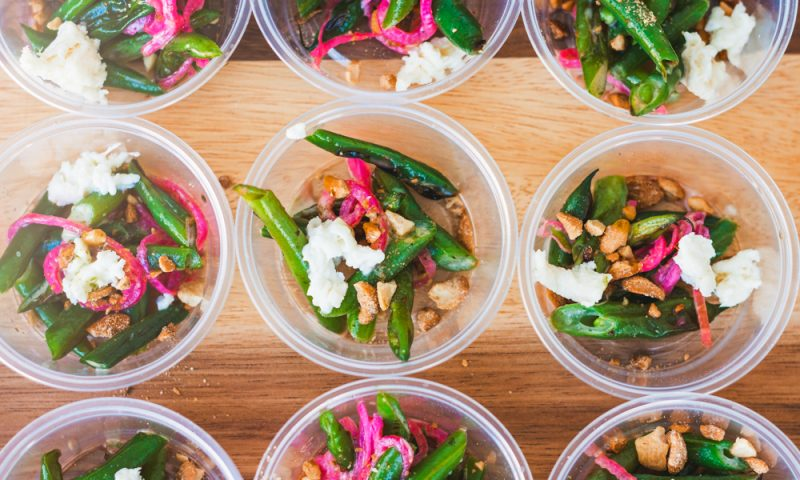 Stoneground helps us stay healthy with their house-smoked mozzarella on top of blistered green beans, pickled shallots and finished with cashews. Photo: Talyn Sherer