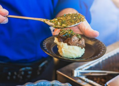 Texas De Brazil provided one of the most delicious items of the event with their flank steak and horseradish mashed potatoes topped with their signature chimichurri sauce. Photo: Talyn Sherer