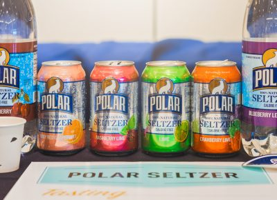 Polar Seltzer gave us a taste of their growing lineup of delicious calorie-free flavored waters. Photo: Talyn Sherer
