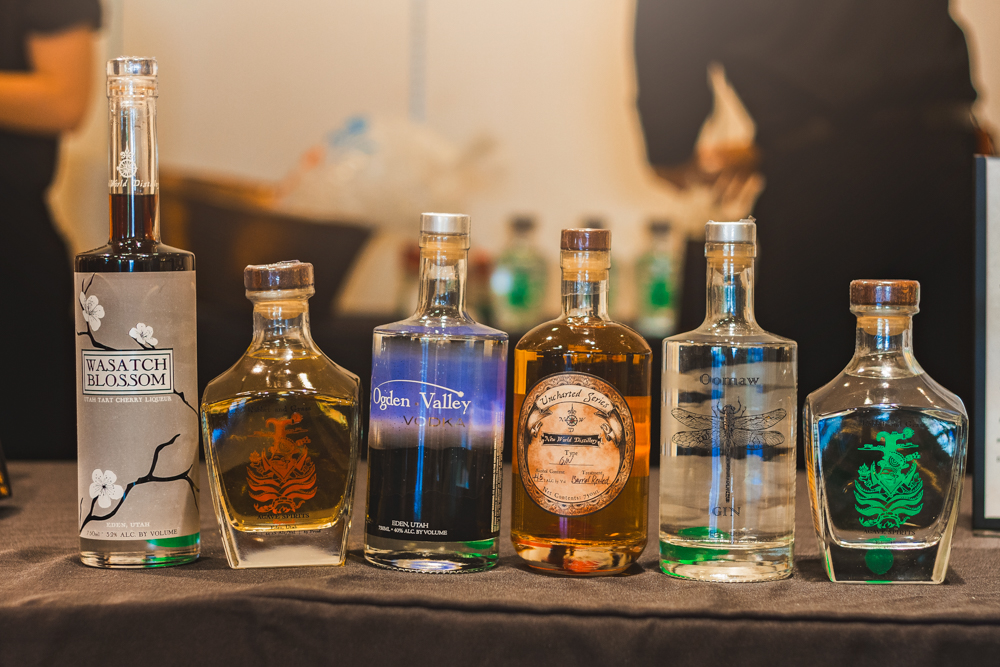 New World Distillery brought out the complete line of spirits they are offering up. Photo: Talyn Sherer