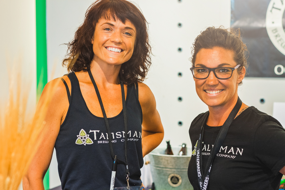 (L–R) Melissa Utermoehlen and Sadie Spalding head up the market sales of Talisman's tasty brews. Photo: Talyn Sherer