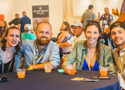(R–L) Toby Brotherton, Allie Hurtado, Ethan White and Molly Miloscia were thrilled to attend this years event and experience the VIP section in full gear. Photo: Talyn Sherer