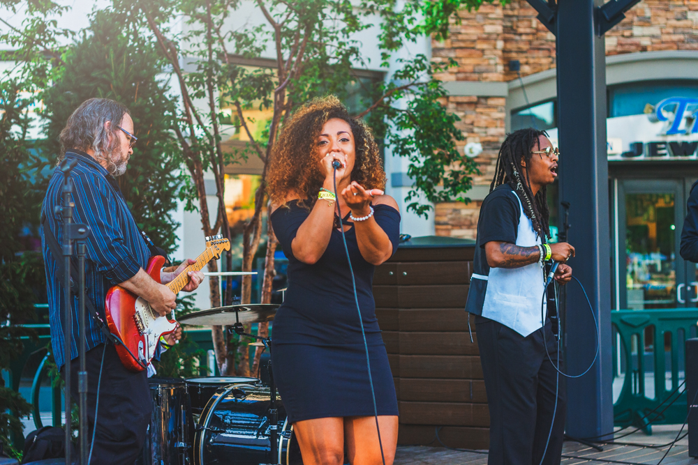 The live music of Tastemakers created an upbeat atmosphere throughout the two-day event. Photo: Talyn Sherer