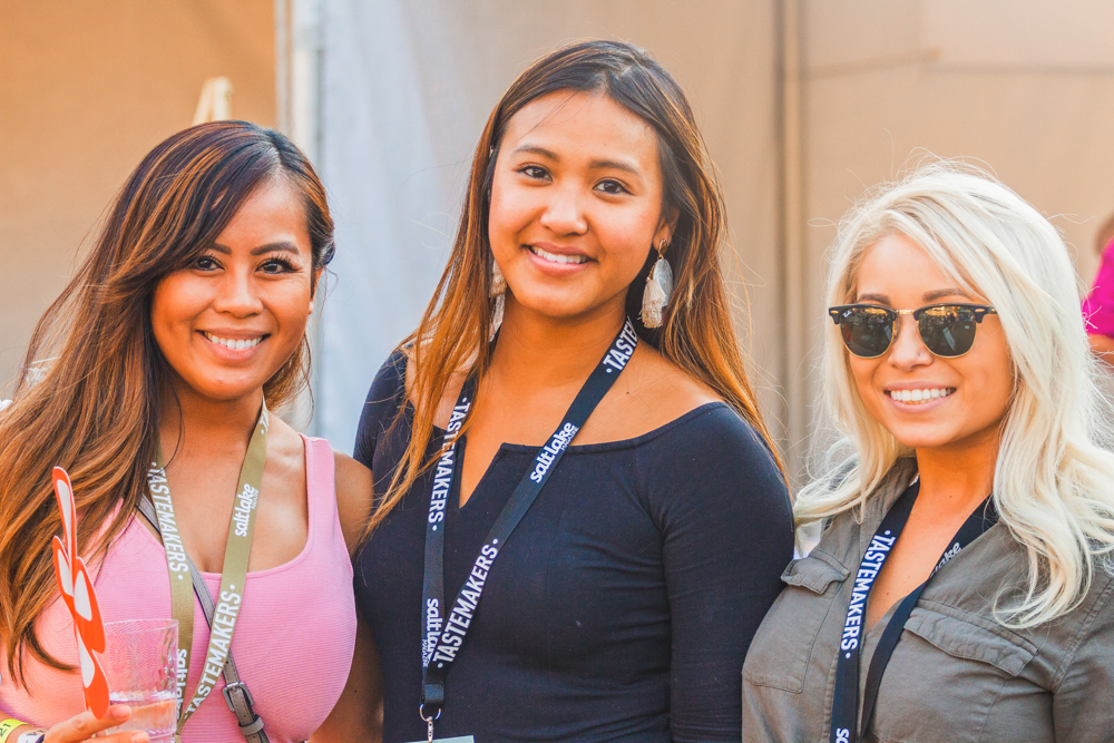 (R–L) Aiko Corralz, Tina Nguyen and Monica Vonvdara enjoy their return to this years event after having enjoyed the previous tastings in years past. Photo: Talyn Sherer