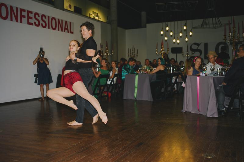 Performances melded dance, acro yoga and acrobatics. Photo: @clancycoop