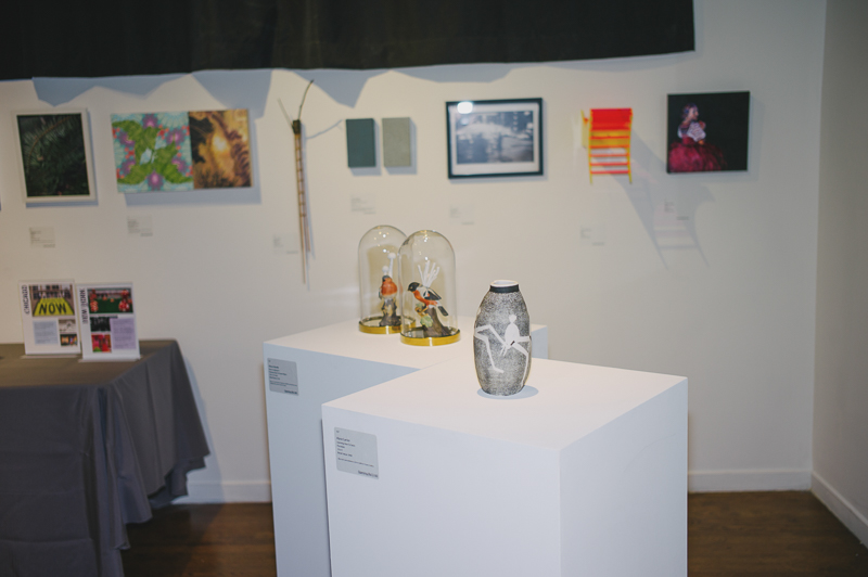 Various pieces by local artists were for sale through silent auction. Photo: @clancycoop