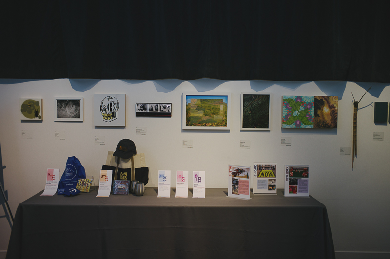 Guests could bid on art by local artists. Photo: @clancycoop