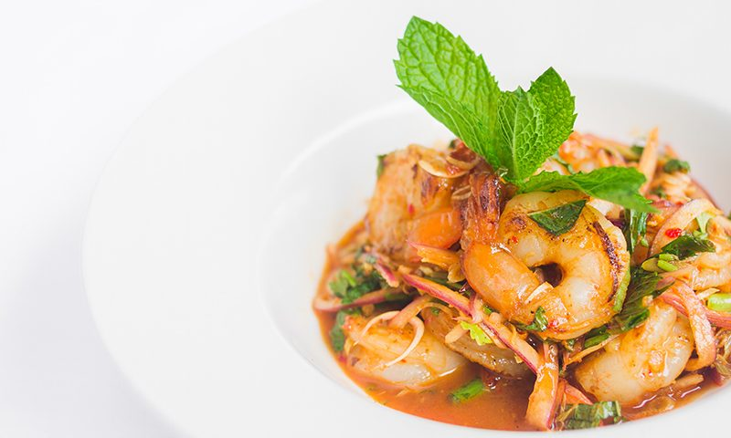 Bangkok Terrace's spicy Pla Goong Shrimp Salad. Photo: Talyn Sherer