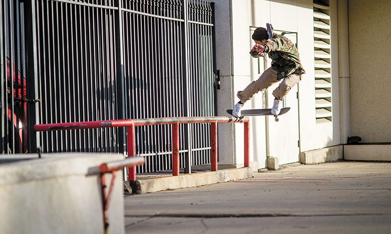 Hubble making the Backside 180 Nosegrind look like a piece of cake. Photo: Niels Jensen