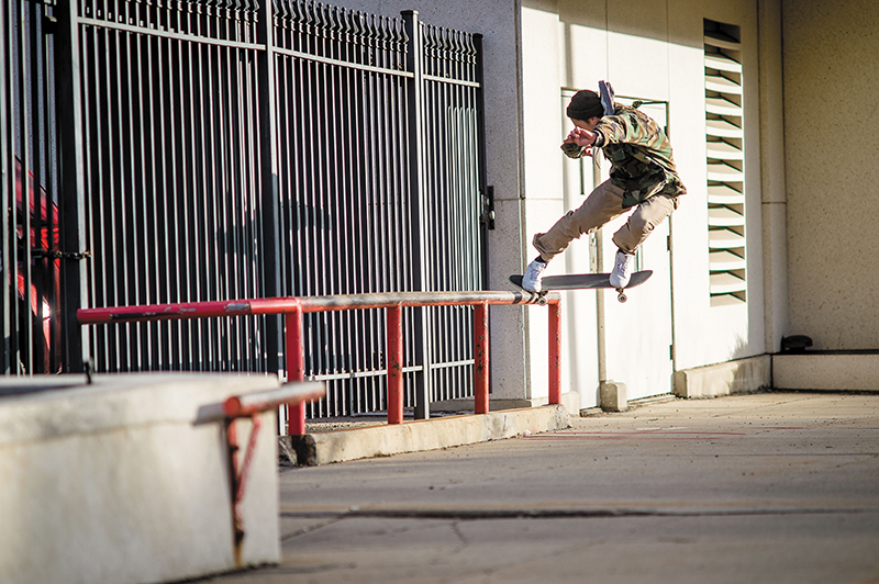 Photo: Niels Jensen // Sam Hubble – Backside 180 Nosegrind – SLC, Utah