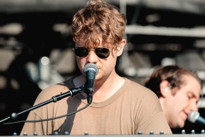 Covering keyboards and backup vocals for Foster the People at USANA Amphitheatre. Photo: Lmsorenson.net