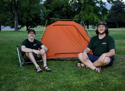 The Bushwhack team outside of their TIO Tent. Photo: John Barkiple
