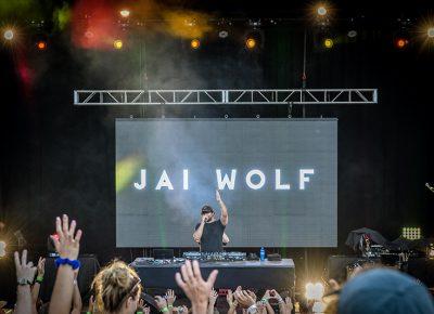 Jai Wolf enchanting the crowd. Photo: Colton Marsala