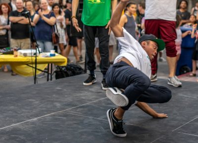 B-boys showing us how it's done. Photo: Randy Roberts