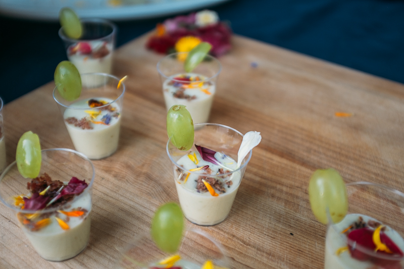 Park City Culinary Institute provided me with my first (intentionally) cold soup experience, serving Ajo Blanco, a Spanish soup with almonds, garlic and vinegar, garnished with a single grape. Photo: @clancycoop