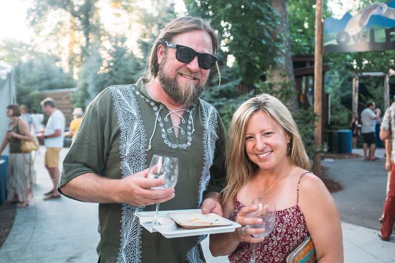 (L–R) Brandon Gregersen and Kim Sorrentino's favorite was the tarot chip nachos from The Dispensary. Photo: @clancycoop