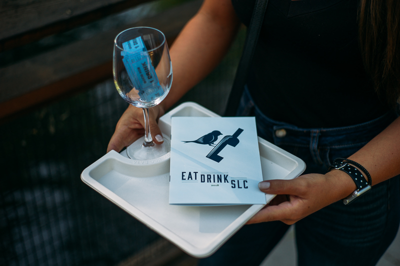 Attendees received a take-home Eat Drink SLC wine glass and attendee guide. Photo: @clancycoop