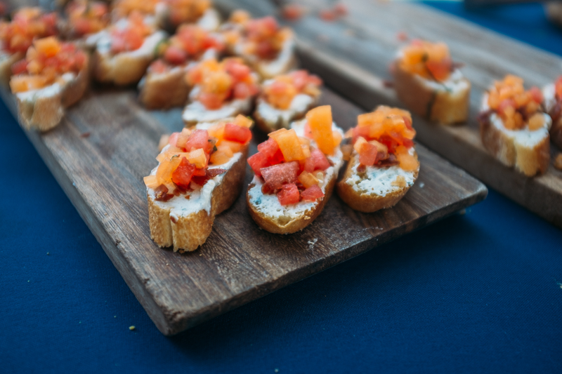 Stanza served cantaloupe and caramelized watermelon bruschetta with mint chèvre and prosciutto that hardly required chewing. Photo: @clancycoop