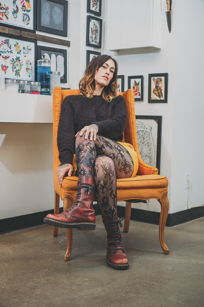 """""""It's intimidating to go into a tattoo shop, and so people usually do bring friends for the support,"""" says Davies. """"I think that usually when people walk into our shop, they feel welcomed ... We get that a lot, that [visitors are] like, 'Oh my gosh, you guys are nice.'"""" Photo: @clancycoop"""