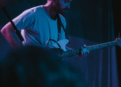 Bassist and new Wye Oak touring member William Hackney. Photo: Matthew Hunter