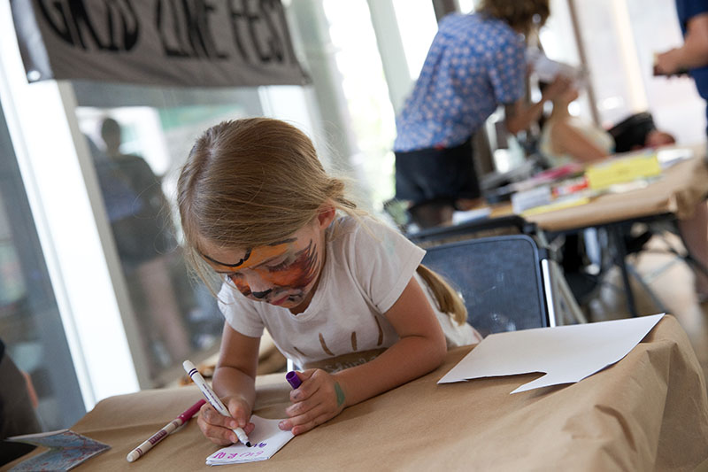 Even little ones have a place to be creative at the DIY Festival.