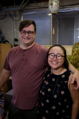Will and Narae Kim Simmons sharing smiles. Photo: John Barkiple