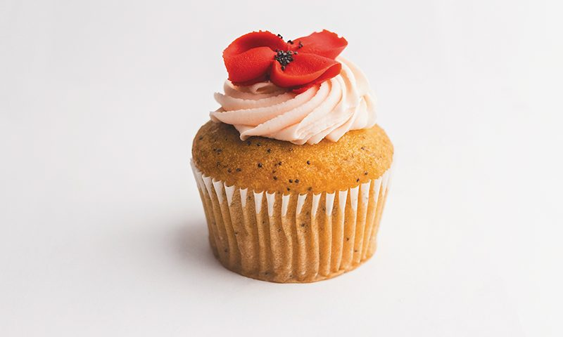 Orange Poppyseed Cupcake. Photo: Talyn Sherer