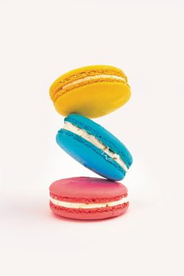 Passion Fruit Blue Raspberry and Strawberry Macarons. Photo: Talyn Sherer