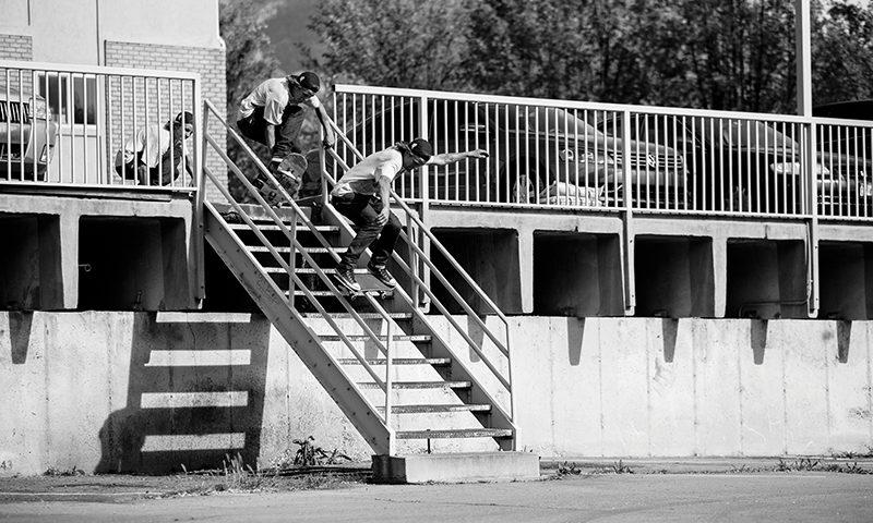 Colin Sheffield – Early Grab Board Slide – Provo, Utah. Photo: Weston Colton.