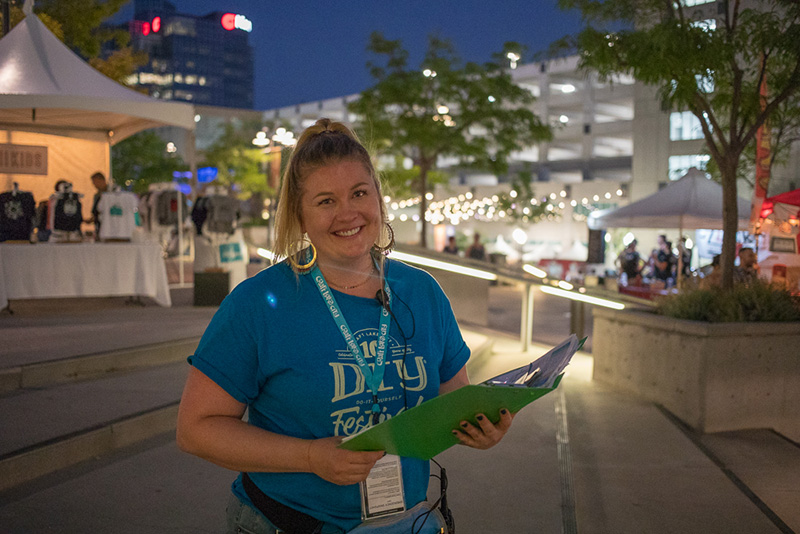 Craft Lake City Ticketing and Assistant Finance Manager, Lindsey Wing wandered far and wide during the festival. She was spotted by each gate and up in the Google Fiber STEM building.