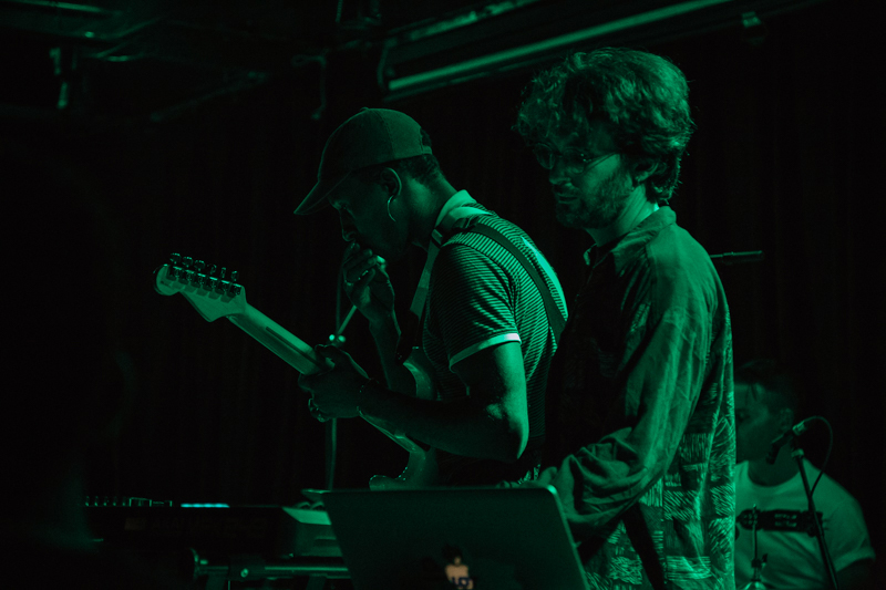 Artists bot (L) and _Panoram_ (R) supporting on bass/guitar and keys respectively.