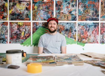 Andrew Rice will exhibit his work at God Hates Robots on Sept. 21. Photo: Matthew Hunter.